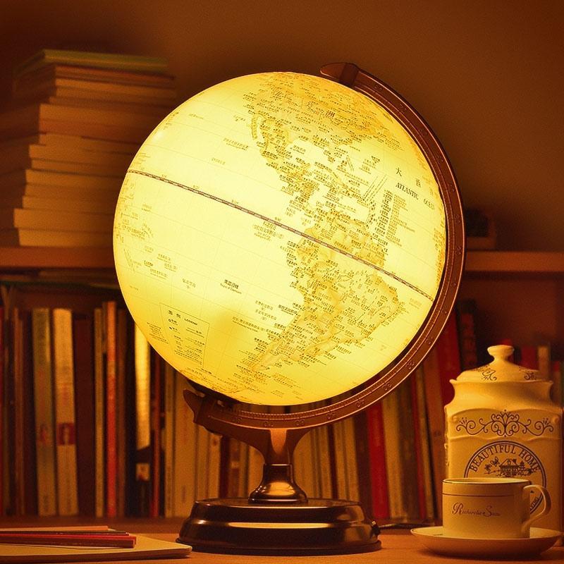 闪迪家居 高清仿古地球仪灯居家氛围灯装饰台灯新年情人节礼物