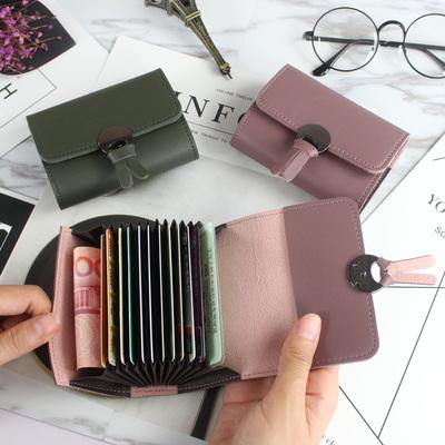 2017新款韩版女式风琴卡夹时尚卡包信用卡套短款小零钱包卡片包潮