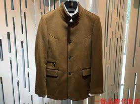 卡西罗帝 男士秋冬款羊毛+羊绒卡其色立领派克大衣便服款6380元