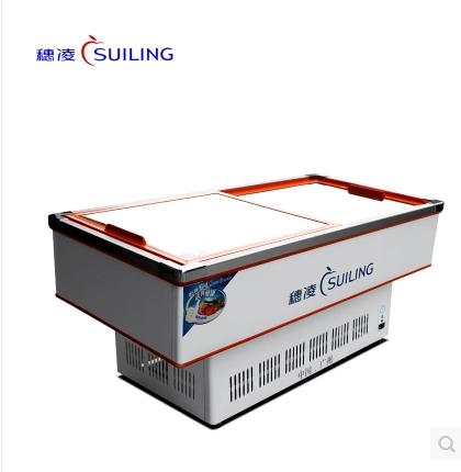 商用卧式斜面海鲜柜单温冷藏冷冻展示烧烤烧腊冷柜 2.0 DLCD 穗凌