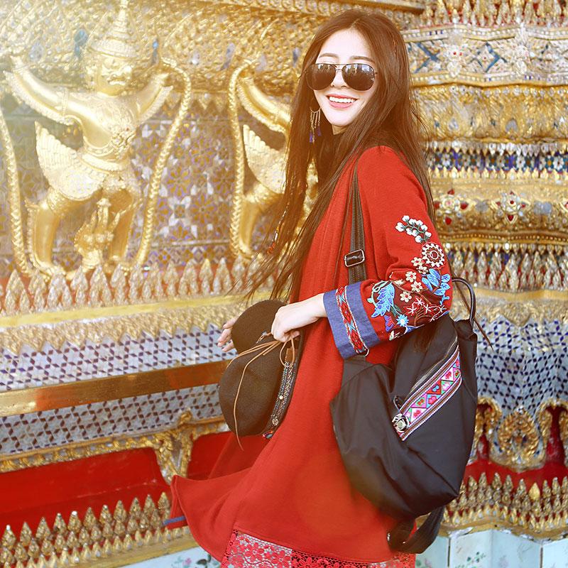 女装春秋中长外套故事民族品牌原创设计师复古文艺绣花针织