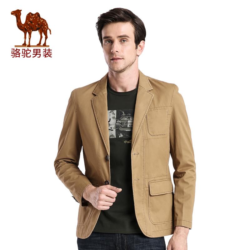骆驼男装 春秋季时尚都市青年宽松美式休闲便西外套西装男
