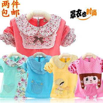 宝宝灯芯绒罩衣儿童防水反穿衣婴