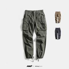 ANG2 臻稀好货 新款美式军旅潮流男式工装立体大口袋直筒休闲长裤