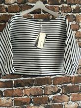 BDJ2E514地平线上条纹显瘦一字领T恤 2016夏款 代购 现货播专柜正品