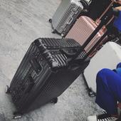 D+Y韩版铝框行李箱旅行箱拉杆箱女万向轮密码男皮箱子20/24/26寸