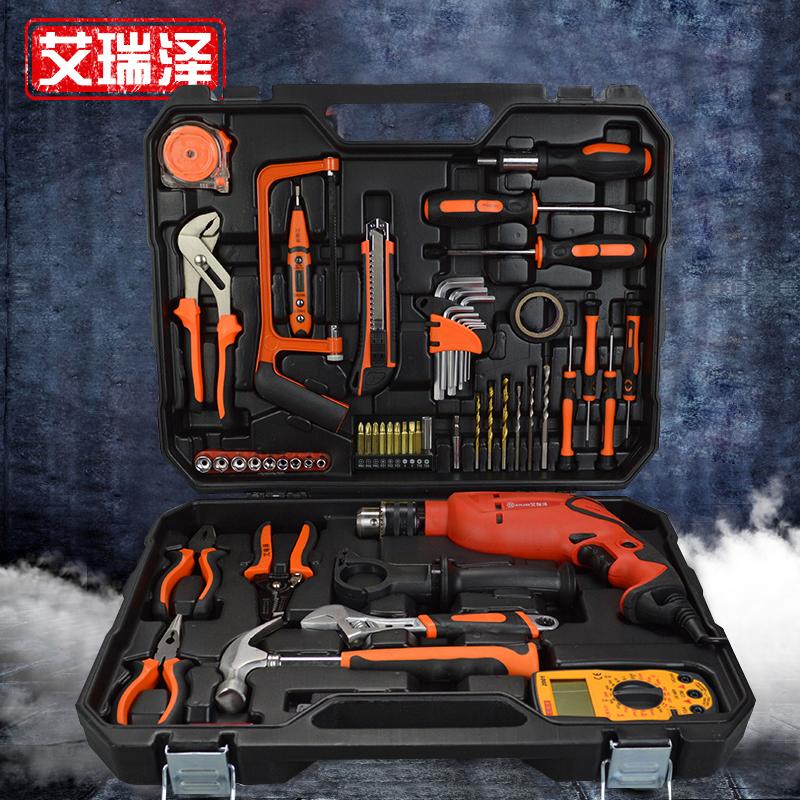 艾瑞泽五金工具套装 德国家用木工工具箱电工维修
