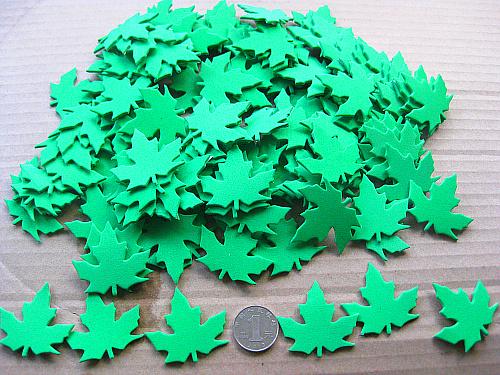 幼儿园装饰评比栏墙贴 布置泡沫立体墙贴纸创意 春天主题绿色树叶图片