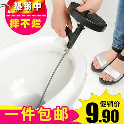 手摇通下水道工具捅弹簧神器厨房厕所家用掏管道堵塞通马桶疏通器