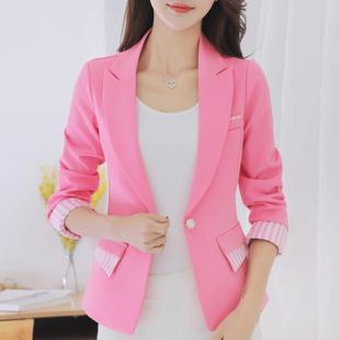 蕾可妮斯2017春秋新款韩版小西装女士上衣修身时尚外套休闲西服女