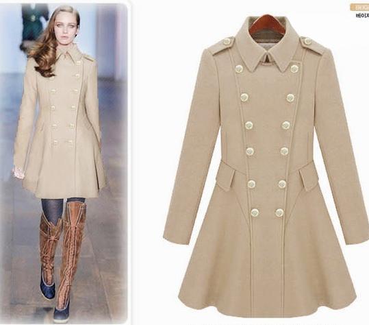 2015新款冬装韩版修身呢大衣秋冬女装呢子外套毛呢大衣中长款特价