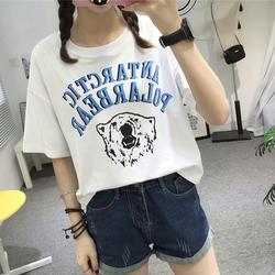 夏天衣服女短款短袖t恤女装2017春装新款韩版学生宽松百搭上衣潮