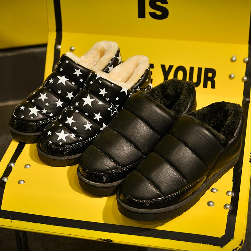 韩版棉鞋冬季雪地靴情侣防水PU皮棉靴防滑保暖加厚短筒男女学生靴
