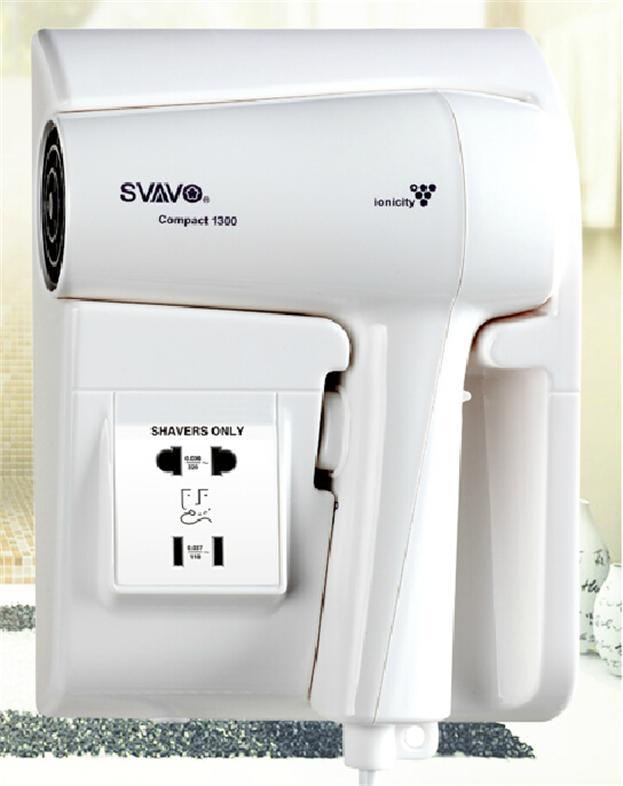 瑞沃节能负离子壁挂式电吹风机带插座挂墙式吹风筒生活电器V-175C