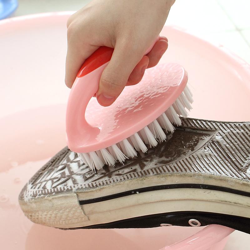 懒角落 多功能塑料软毛洗衣刷强力清洁鞋刷带把洗衣服的刷子62676