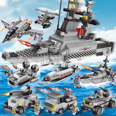 男孩子军事拼装城市警察系列兼容乐高积木儿童益智玩具6-8-10岁12