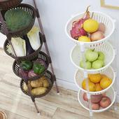 塑料蔬菜水果厨房置物架收纳筐落地多层三角架储物用品具3菜篮子4
