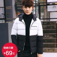 短款 小棉袄 男士 冬季加厚青年棉衣男装 棉服修身 连帽外套潮韩版 新款