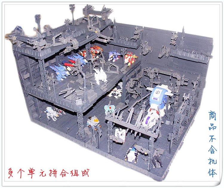 CG 机巢 前线基地 格纳库 场景 整备架 zoids 高达 变形金刚适用