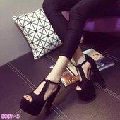 超高跟14CM高档美腿后拉链夜店镂空凉鞋 欧美粗跟鱼嘴女鞋 2016新款