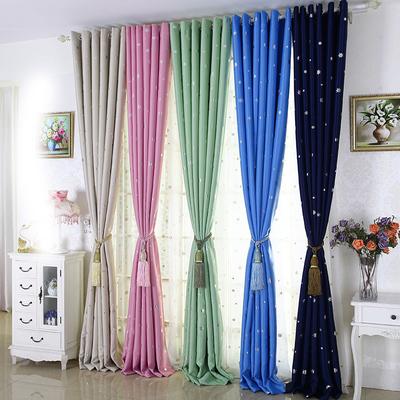 谷力小熊田园成品窗帘遮光窗帘遮光布料客厅窗帘成品加厚遮阳