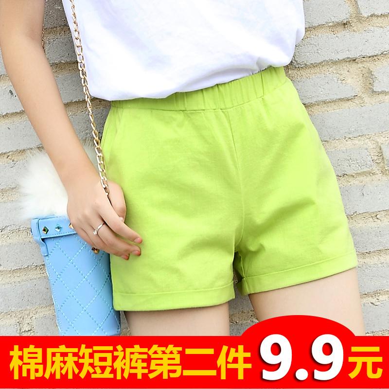 休闲睡裤短裤学生运动宽松mm热裤大码胖家居