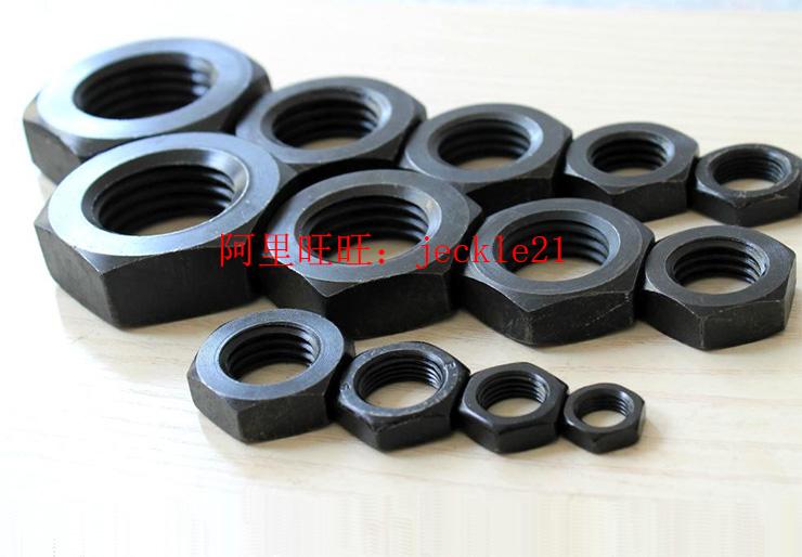 发黑细牙薄螺帽外六角薄型螺母M30/M33/M45/M48/M50-2/M55/M56-2