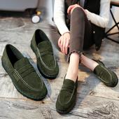 女鞋春季2017新款韩版豆豆鞋女平底一脚蹬原宿风个性百搭学生单鞋