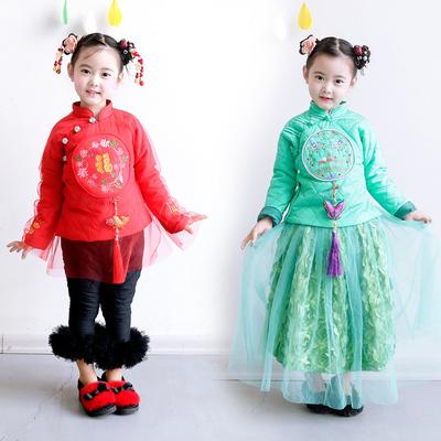 民国风格中国式唐装新年装过年款薄棉上衣民族风棉袄2017新款绣花