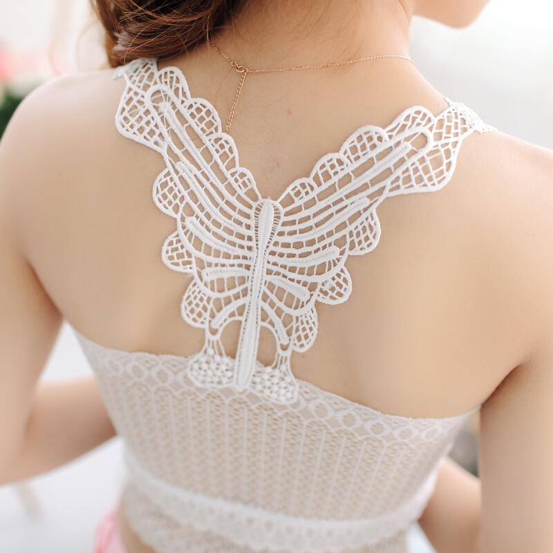 夏季小可爱白色蕾丝防走光抹胸裹胸内衣打底吊带背心