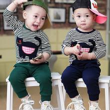 1-2-3-4岁男童宝宝2014春秋装新款一两三岁儿童纯棉休闲长袖套装