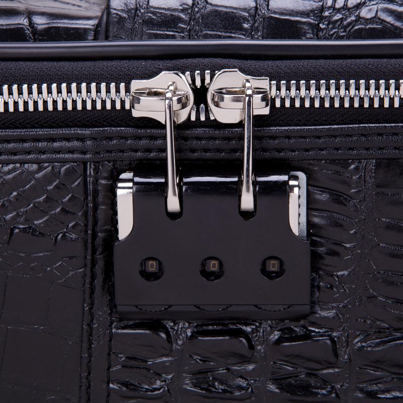 商务头层真皮拉杆箱登机箱旅行箱皮箱万向轮行李箱 BAUDINO GINO