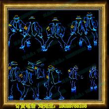 舞蹈服装 发光线 表演服 DJ酒吧激光LED衣服 电光舞台道具 荧光舞