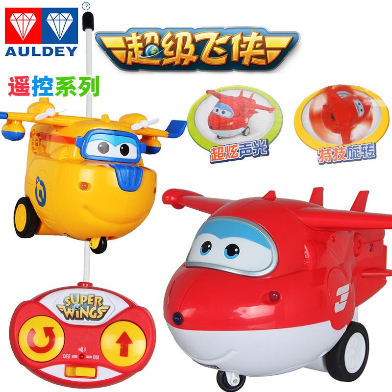 奥迪双钻超级飞侠遥控系列玩具变形机器人小遥控滑行飞机乐迪多多
