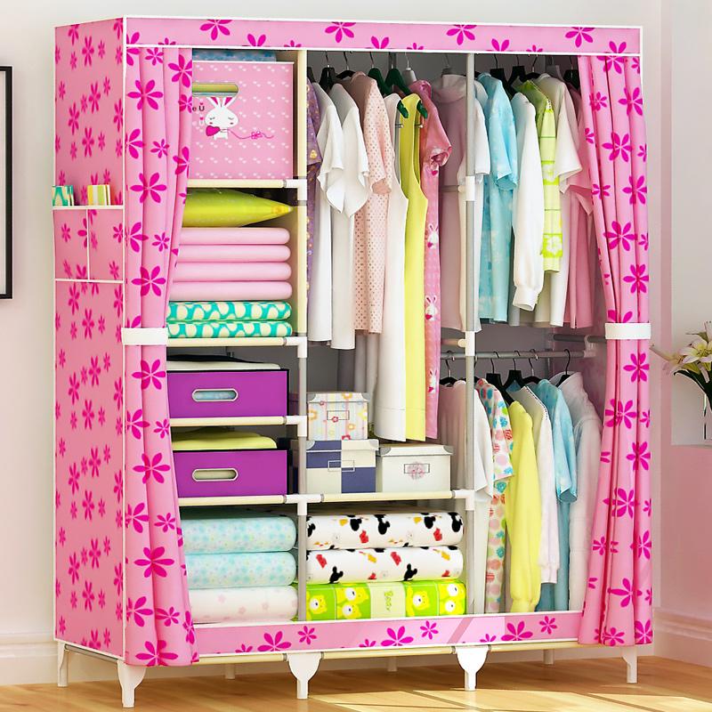 简易衣柜简易布衣柜钢管折叠衣柜
