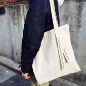 新品/韩国潮帆布购物袋休闲百搭包包帆布包环保文艺单肩女包