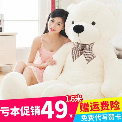 泰迪熊公仔抱抱熊布娃娃大熊毛绒玩具熊玩偶女孩生日礼物熊猫抱枕