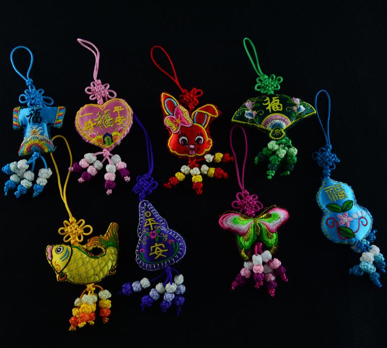 葫芦平安吉祥香包香囊双面刺绣花纹精美特色小礼品结