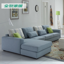 全友家居客厅家具整装沙发简约现代布艺经济型大小户型102165A图片