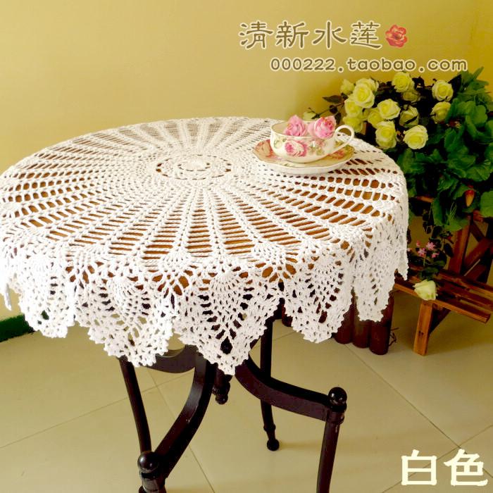 美式乡村菠萝花圆形桌布80cm