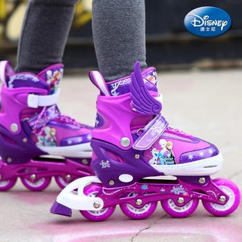 正版授权迪士尼全闪儿童溜冰鞋轮