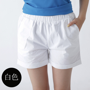 015韩版女装显瘦短裤新款大码胖mm宽松紧腰女裤阔腿休闲夏季夏装