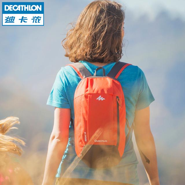 休闲旅行迷你双肩背包 QUECHUA 小书包10L 迪卡侬双肩包男女