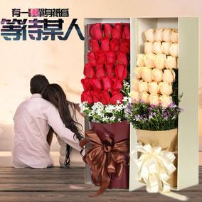 潍坊表白鲜花速递玫瑰礼盒青州诸城寿光高密同城花店生日送花上门
