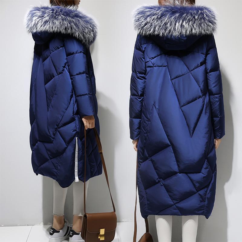 時尚長款羽絨服女裝加厚大毛氣質外套過膝清倉