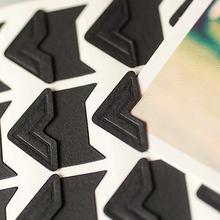24枚 照片贴角 黑色纸质角贴 diy粘贴相册必备 个性 木桐复古