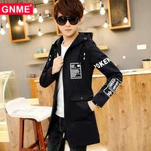 加绒14男孩子15修身16韩版17中长款18岁青少年初中学生风衣外套潮