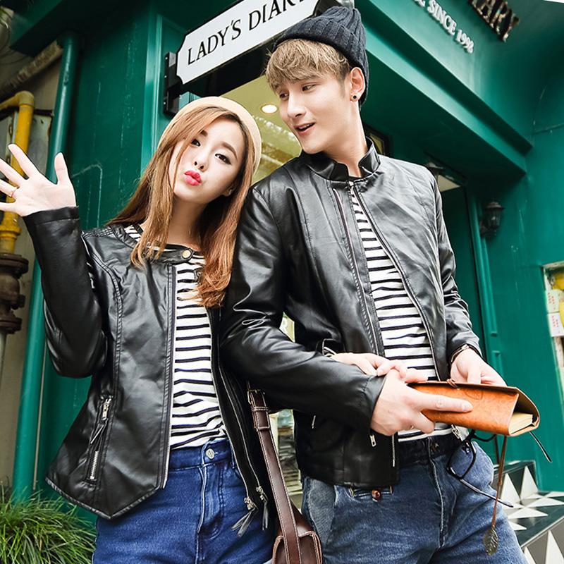 春季仿皮皮衣男装青春流行新款青年男士修身型外套常规皮衣