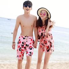 情侣泳衣女三件套裙式保守温泉2017海边度假沙滩游泳衣比基尼套装