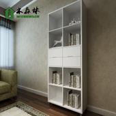 宜家组合烤漆书柜简易书架简约现代书房家具白色大型书橱定做包邮